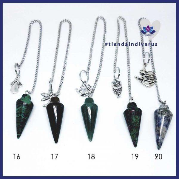 Péndulos de piedras para radiestesia