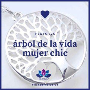 Árbol de la Vida Mujer Chic Plata 925